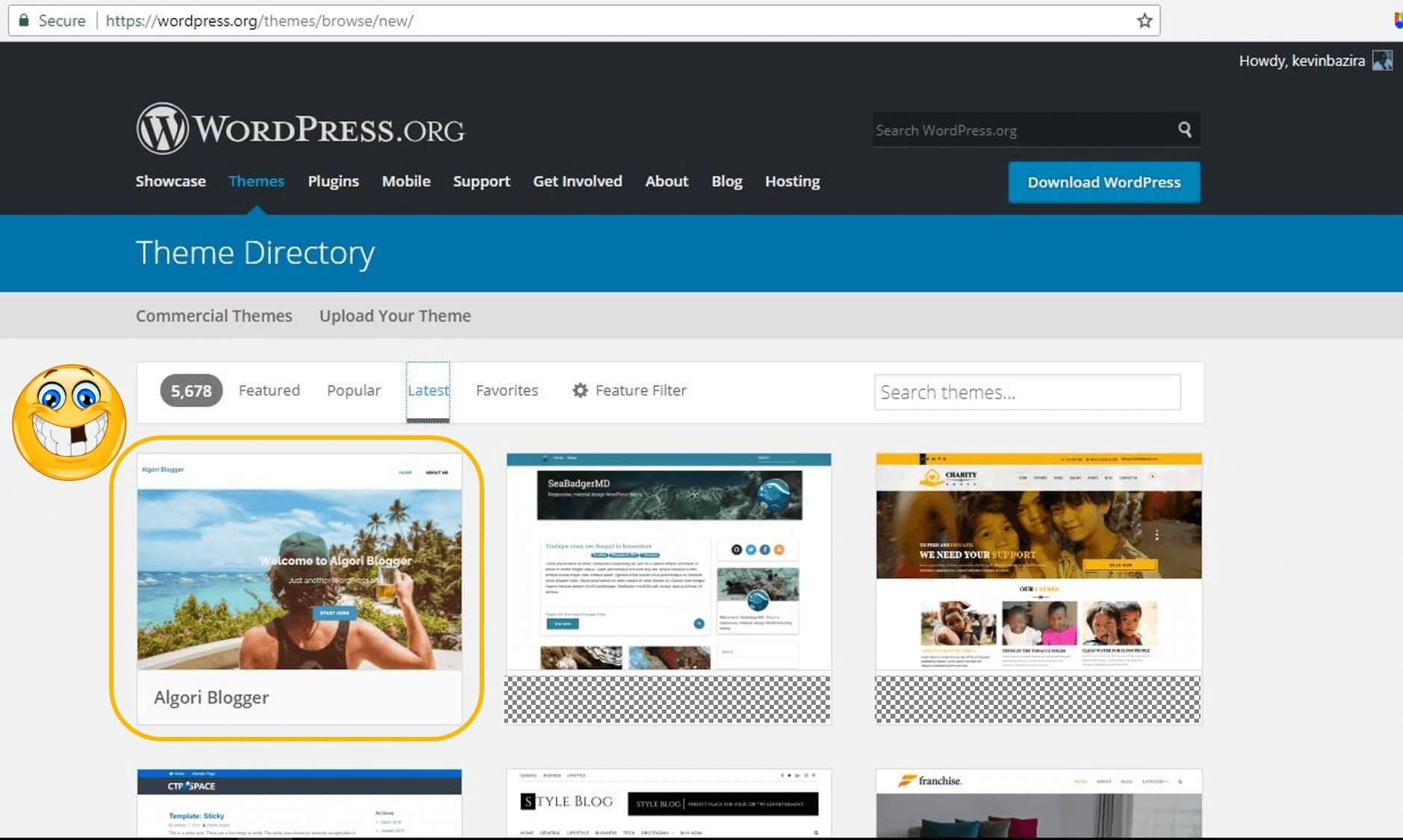 Algori Blogger Live in WP Theme Directory