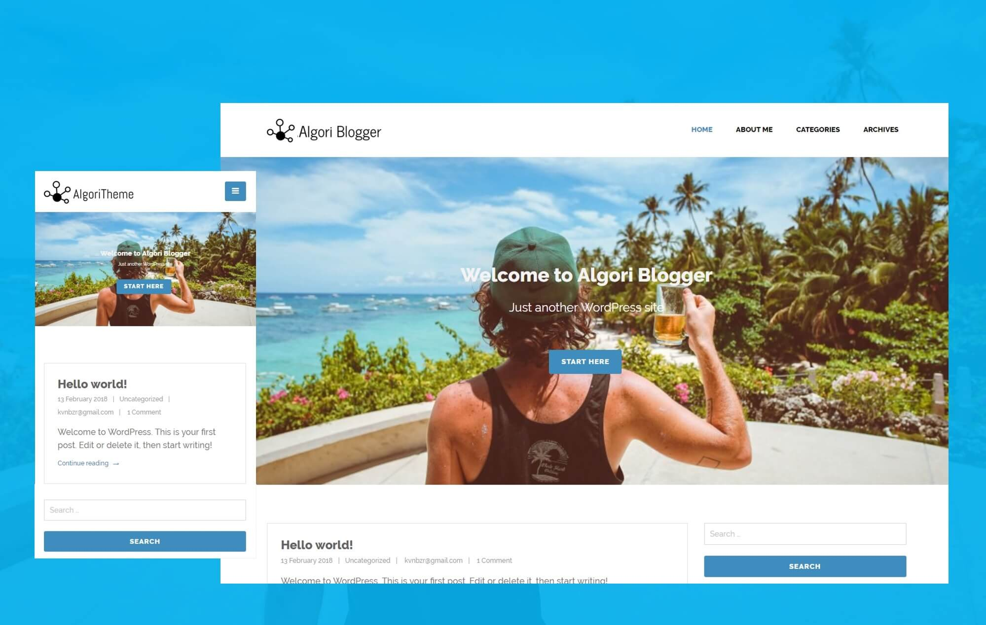 Algori Blogger WordPress Theme