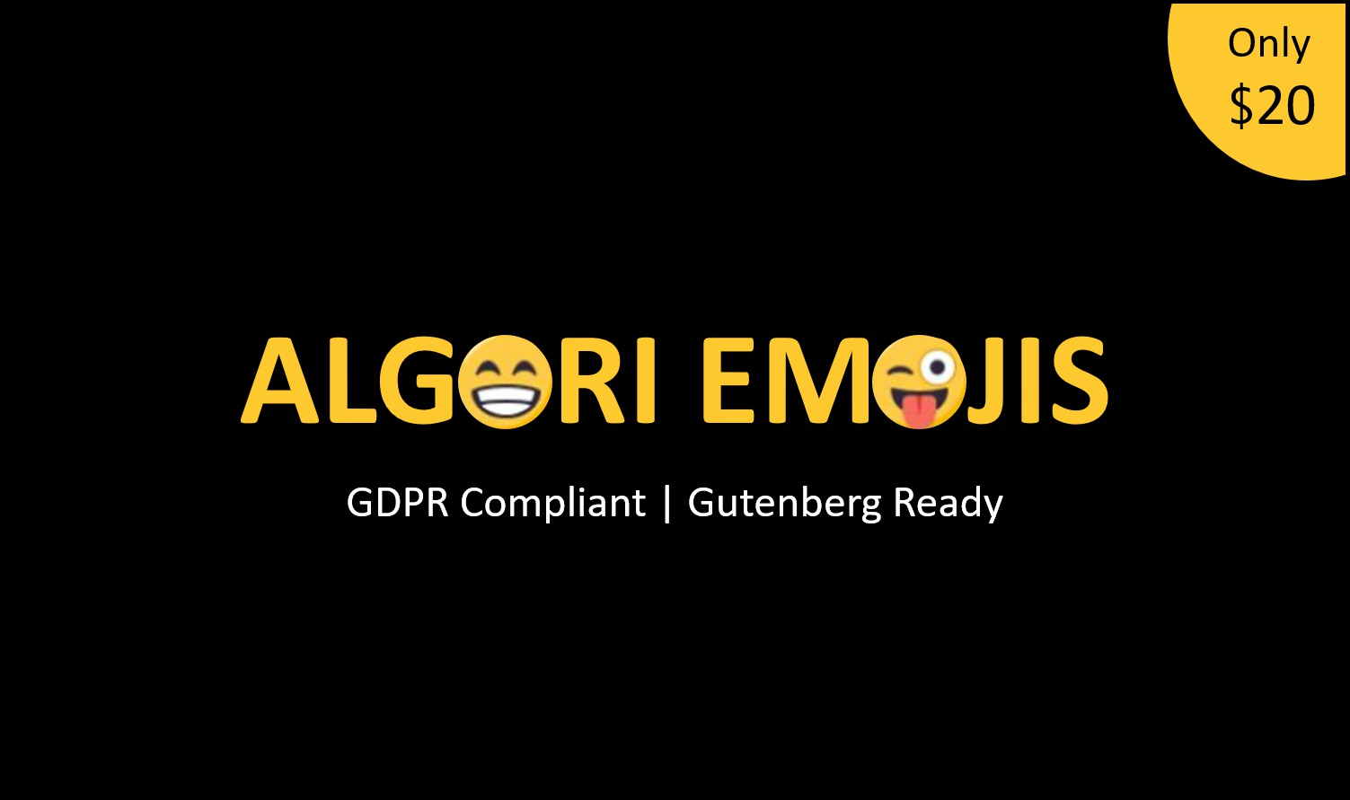 Algori Emojis WordPress Gutenberg Block Plugin