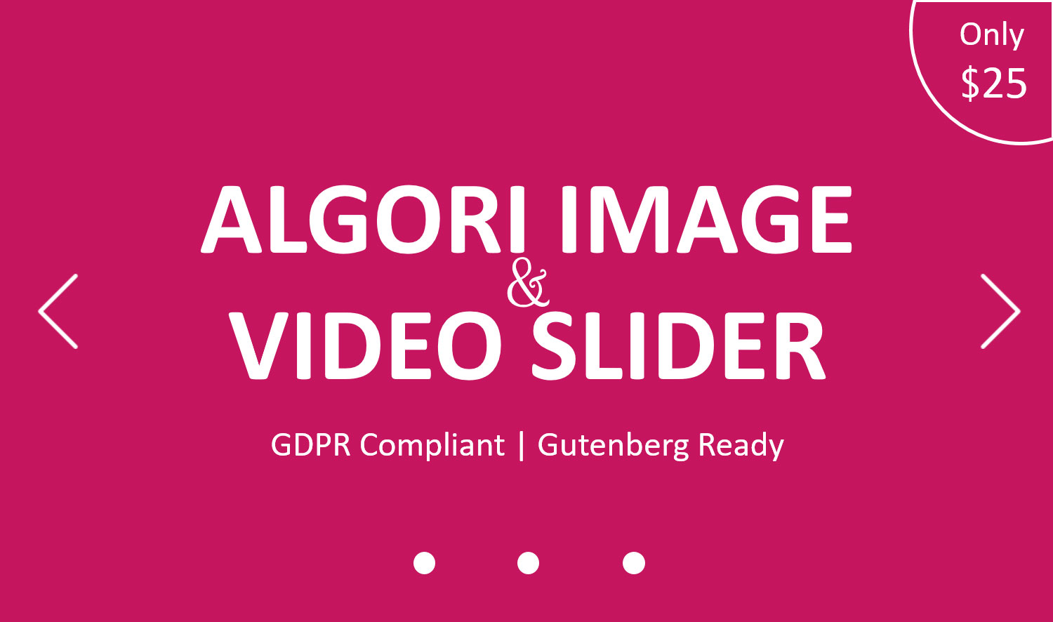 Algori Image & Video Slider Pro for WordPress Gutenberg
