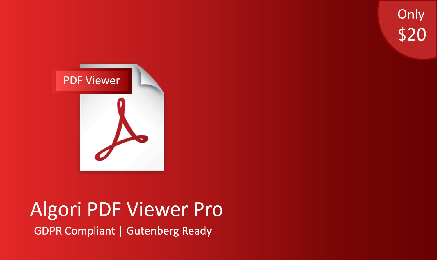 Algori PDF Viewer Pro for WordPress Gutenberg