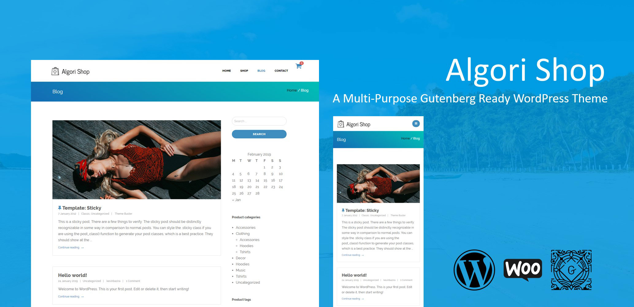 Algori Shop Multi-Purpose WooCommerce WordPress Theme