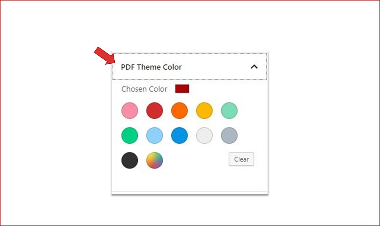 Setting PDF viewer theme color using Gutenberg color palette