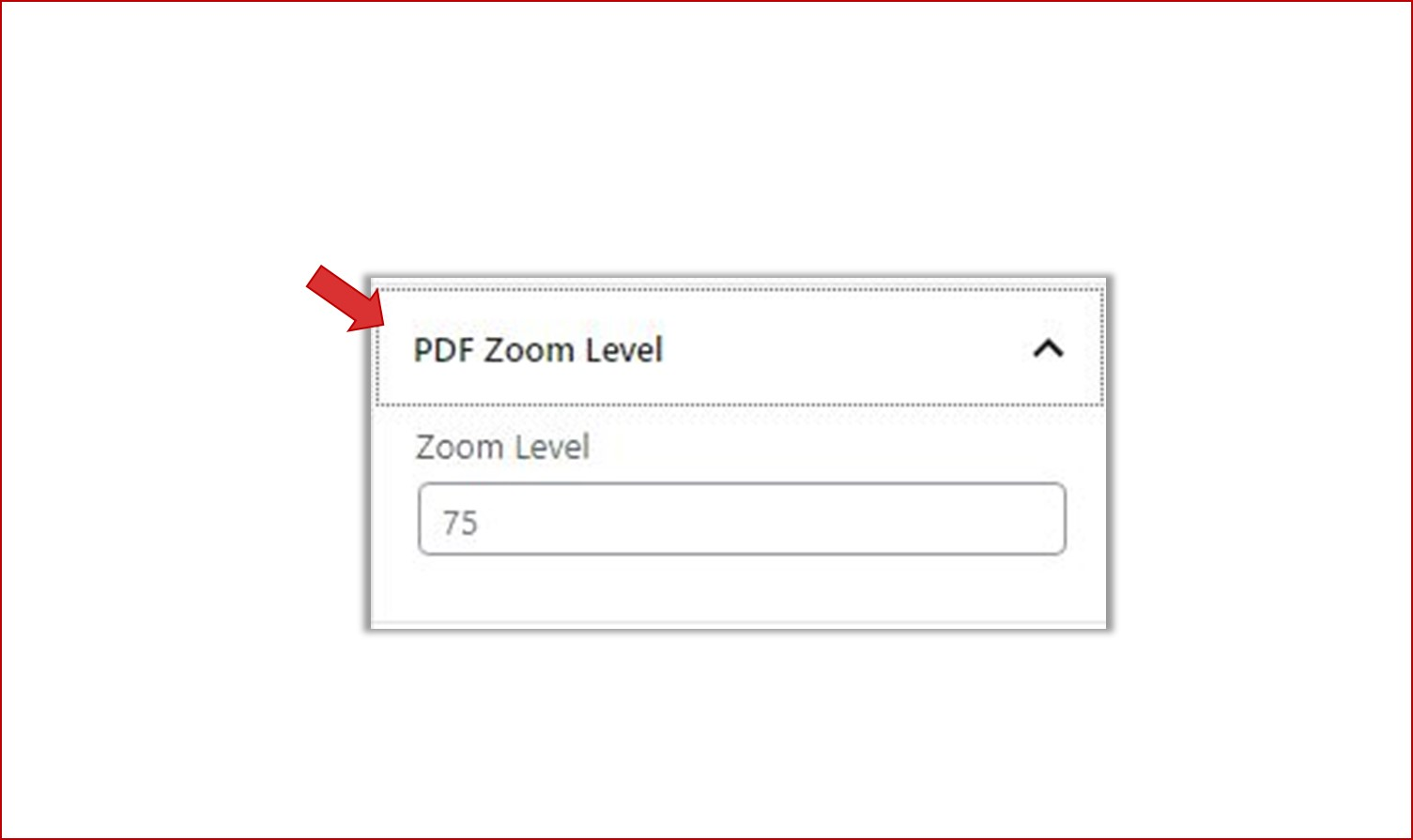 Setting PDF Zoom Level