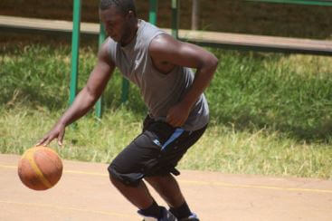 Kevin Bazira Playing Basketball