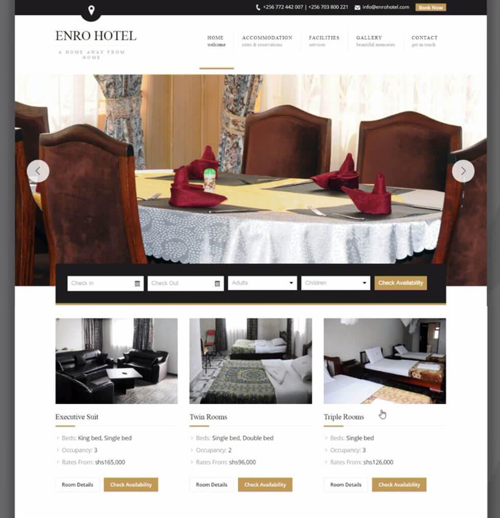 Enro Hotel Website