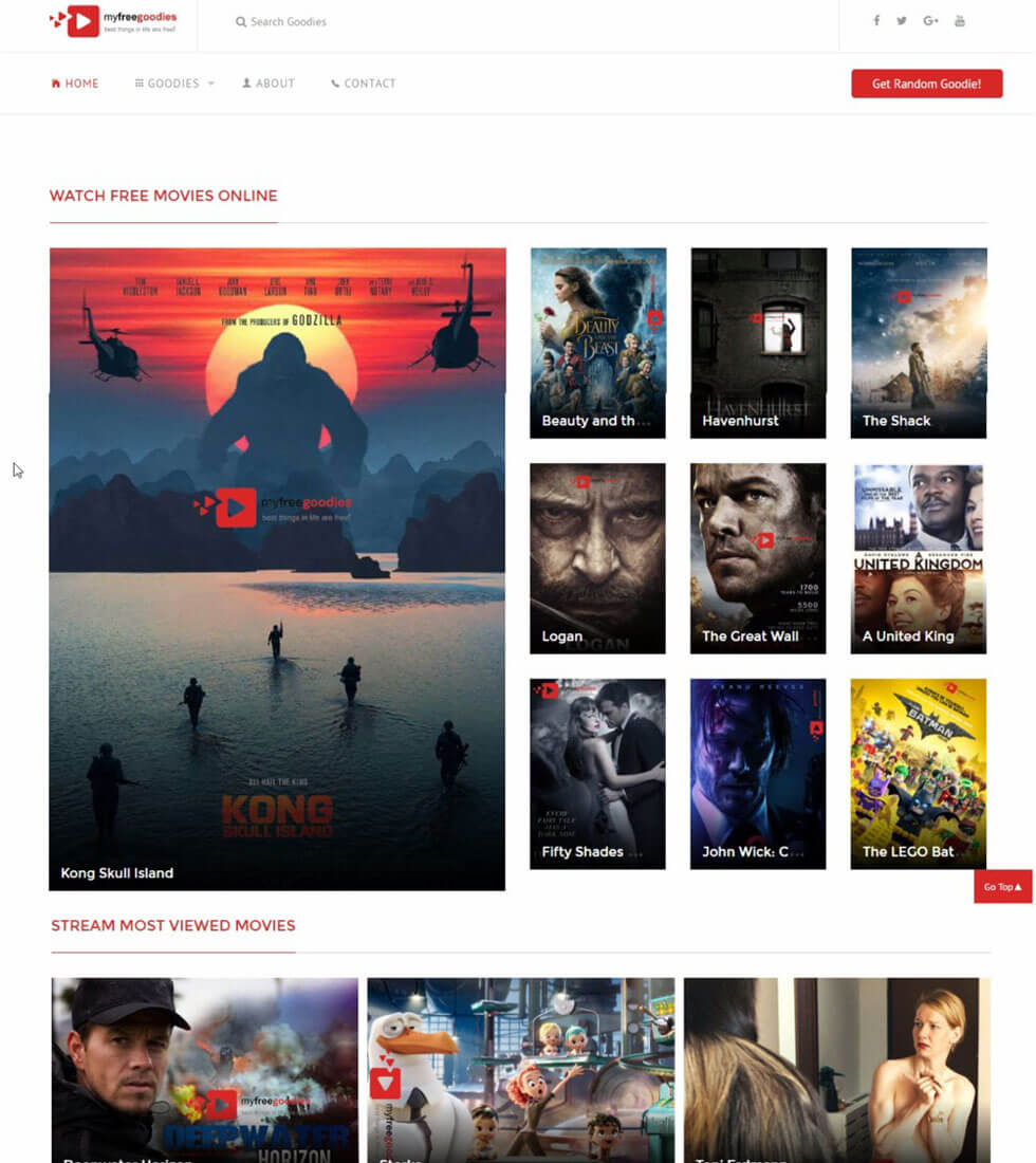 MyFreeGoodies Movie Streaming Website