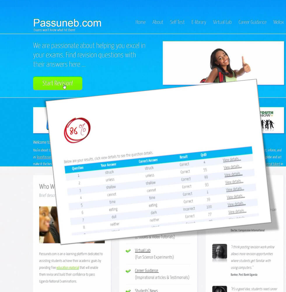 PassUneb.com eLearning Platform