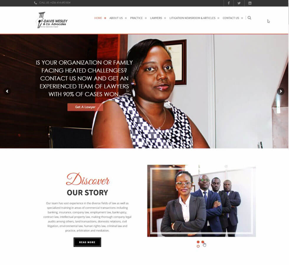 T-DavisWesley Law Firm Website